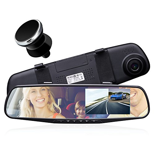 provision isr hidden dual dash cam hidden interior mirror. Black Bedroom Furniture Sets. Home Design Ideas
