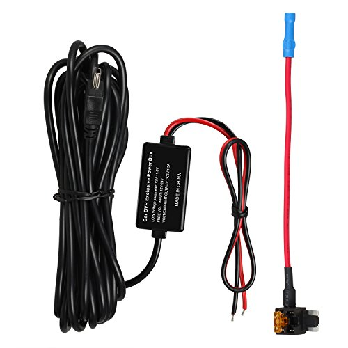 AUTO-VOX Dash Cam Hardwire Kit Low Profile Mini Fuse Adapter