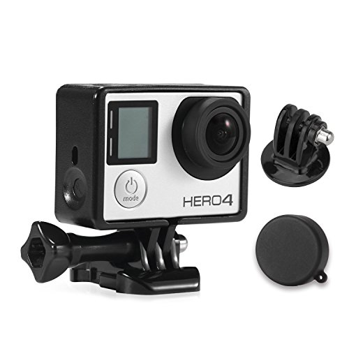 Luxebell Frame Mount Housing with Protective Lens Cover for Gopro Hero4 3+ and 3 Standard